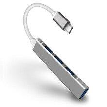 רכזת USB סוג C עגינה תחנת 4 יציאות USB 3.0 HUB ספליטר Thunderbolt 3 USB Dock מתאם OTG עבור מחשבים ניידים מחשב מחשב