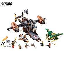 757 piezas Ninjagoe 70605 Kit de construcción bloques Compatible Legoinglys juguetes para niños ladrillos modelo regalo desgracia mantener