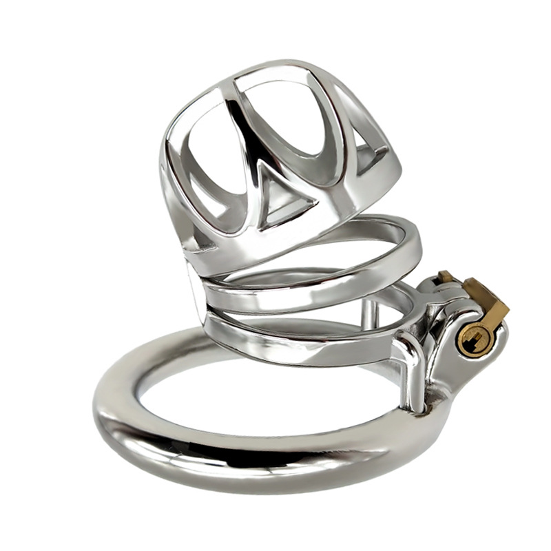 FRRK-41 Metal Chastity Cage Cock Rings Penis Bondage Locks Sex Toys For Men Stainless Steel Male Chastity Device Adult Game
