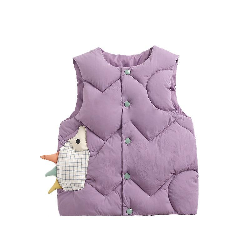 Kids Vest Sleeveless Jacket Children's Clothing Waistcoats For Boys Cotton Winter Autumn Toddler Girl Vest Outerwear Jacket 6