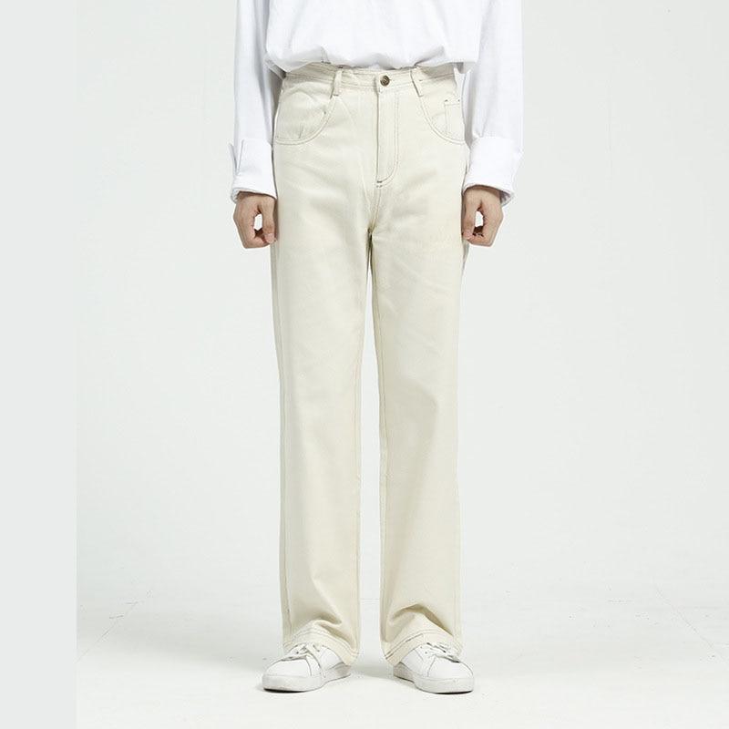 Men Vintage Causal Straight Jeans Trousers Male Women Streetwear Hip Hop Loose Basic Section Denim Pant