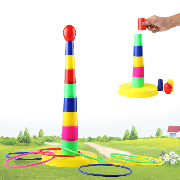 Parent And Child Sports Game Happy Throw The Circle Stack-up Interactive Children Rings Toy