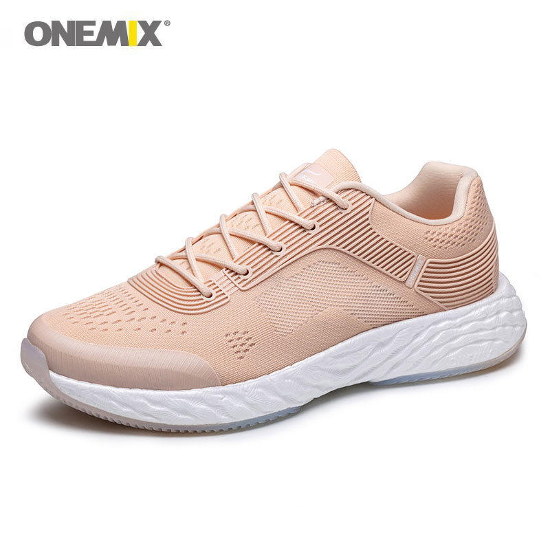 ONEMIX 2020 Running Shoes Men And Women White Shoes Breathable Marathon Leisure Fitness Lightweight Outdoor Sports Jogging Shoes