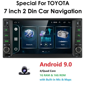 2Din Android 9.0 Car Player for Toyota RAV4 Hilux VIOS Old Camry Prado Prado Cruiser Tundra 2003-2010 Dvd Multimedia with Camera image