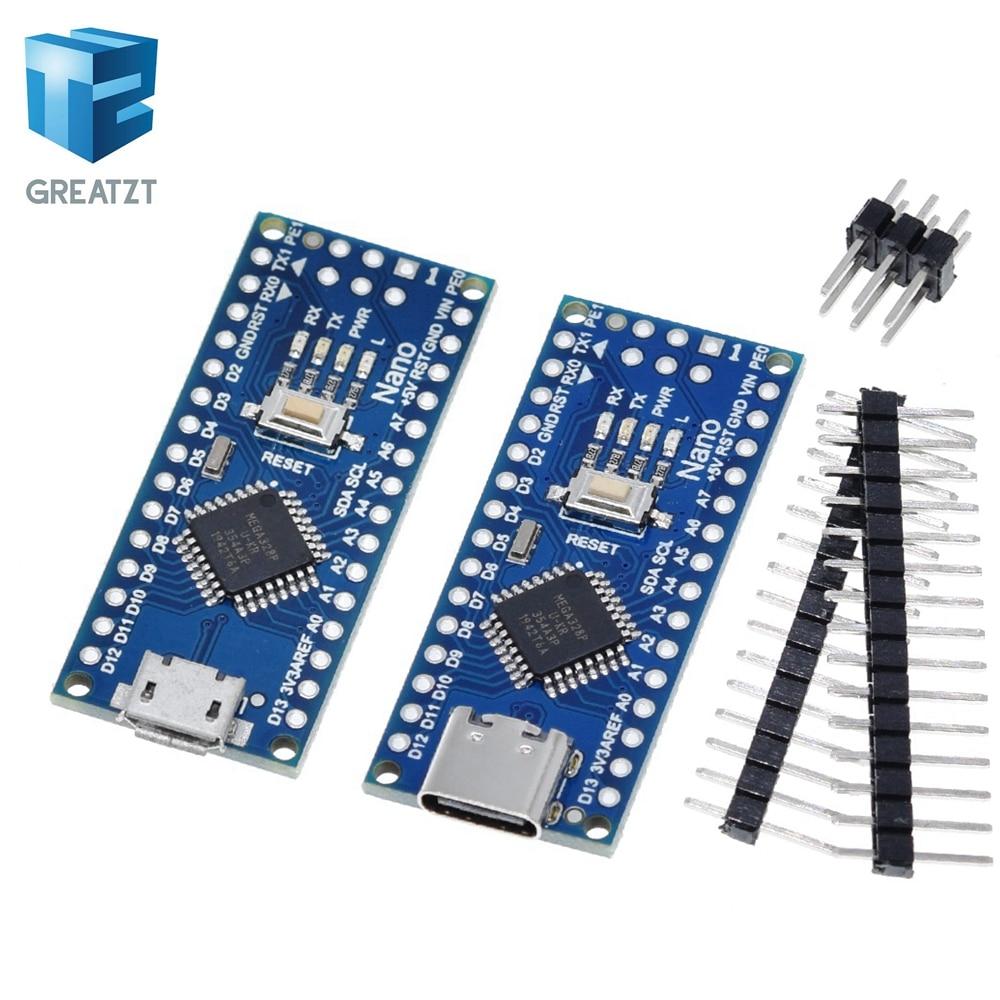 Type C / Micro USB CH340 Nano 3.0 ATmega328P Controller Board Compatible For Arduino Nano CH340 USB Driver Nano V3.0 ATmega328|Integrated Circuits|   - AliExpress