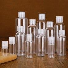 1 pces 250ml/30ml/5ml plástico limpar garrafas de vedação vazias pacote clamshell garrafa de água flip tampa superior embalagem mini recipiente líquido