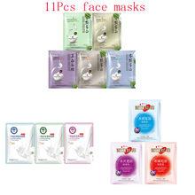 11Pcs mixed Face Silk protein milk Mask extraction Moisturizing Whitening Anti-Aging Oil-control Facial Masks korean skin care