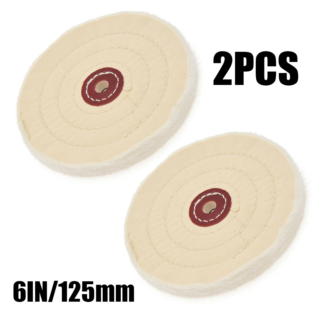 2Pcs 6Inch Cloth Buffing Polishing Wheel Buffer Jewelry Grinder Pad Handcraft  Aluminum Stainless Steel Polishing