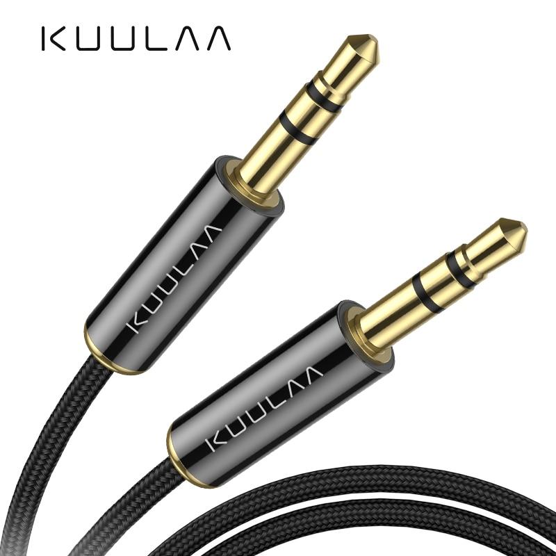 KUULAA Jack 3.5 Cabo de Linha Aux Cabo de Áudio 3.5 milímetros Falante para iPhone 6 Samsung galaxy s8 Carro Fone De Ouvido Xiaomi redmi 4x Jack De Áudio