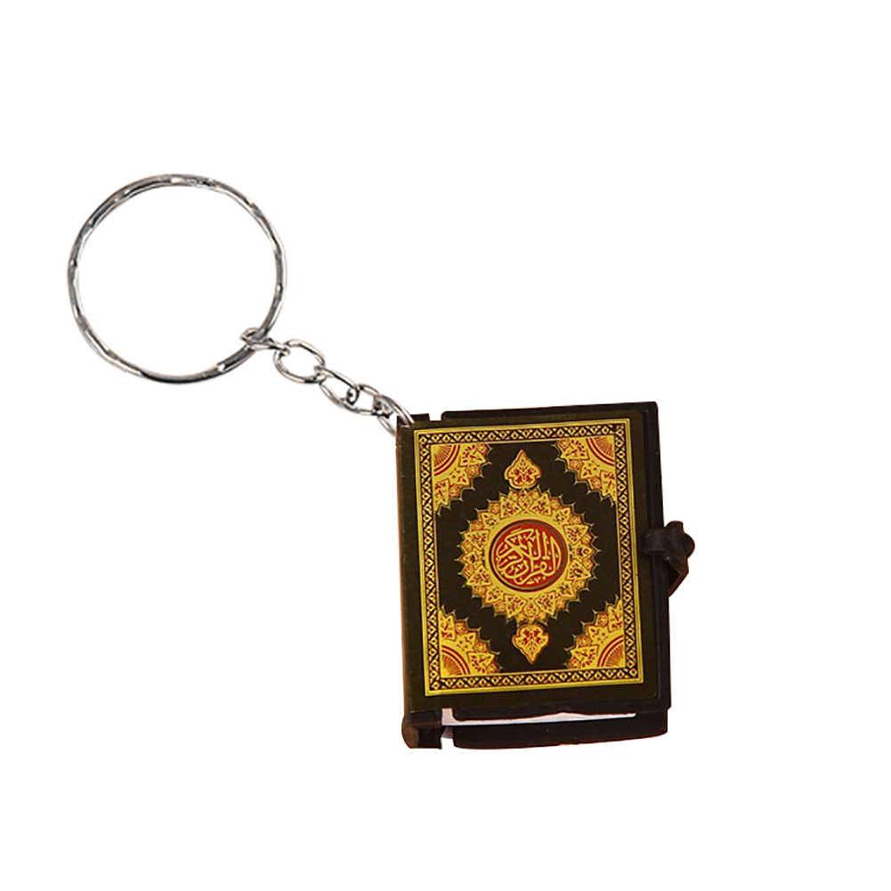 Unisex Mini Quran Arabic Liontin Gantungan Kunci Tas Mobil Gantung Gantungan Kunci Hadiah Ulang Tahun Baru Gantungan Kunci/Llaveros/Sleutelhanger /Tas Ornam