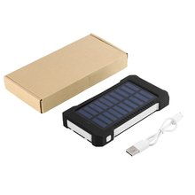 Portable Dual USB Compact Waterproof Powerful LED Light Solar Power Bank External Battery Charger With Hook For Mobile Phones цена 2017