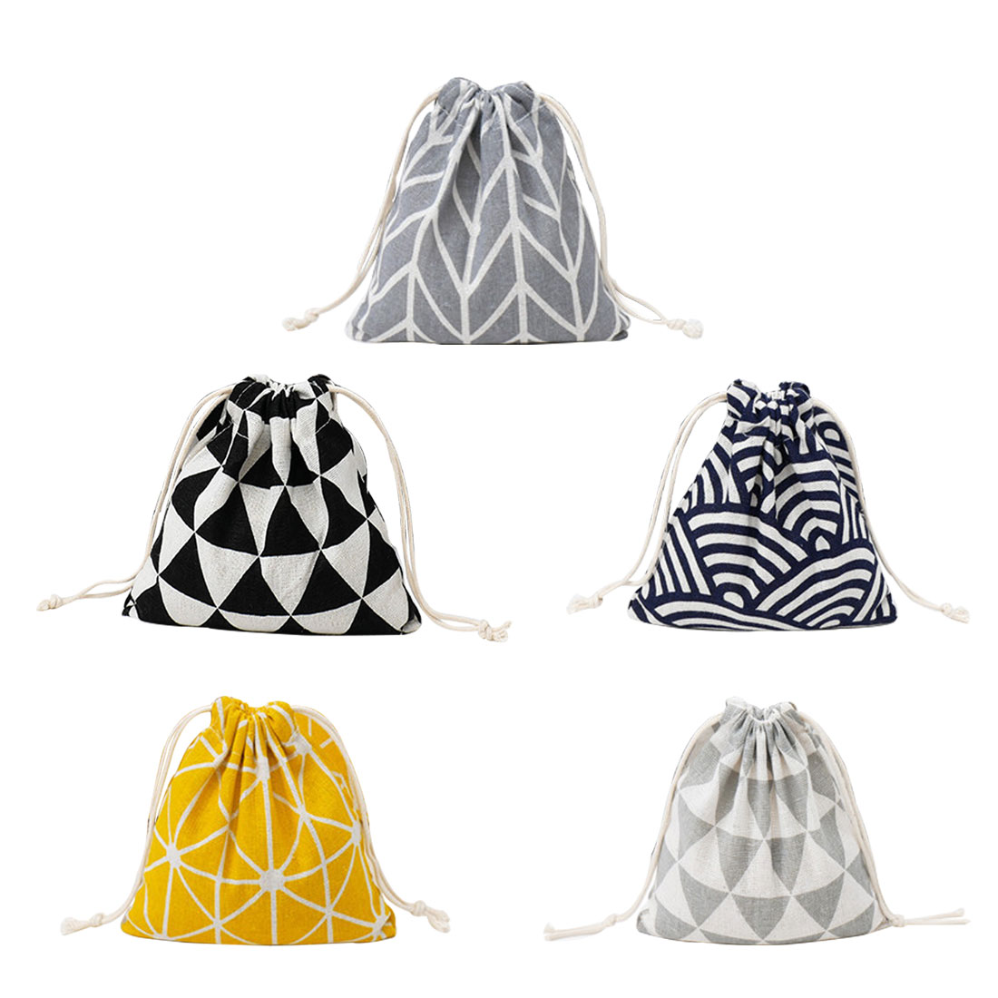 Women Cotton Drawstring Cosmetic Bag Travel Luggage Makeup Bags Toiletry Make Up Wash Storage Kit Organizer Bags Cases