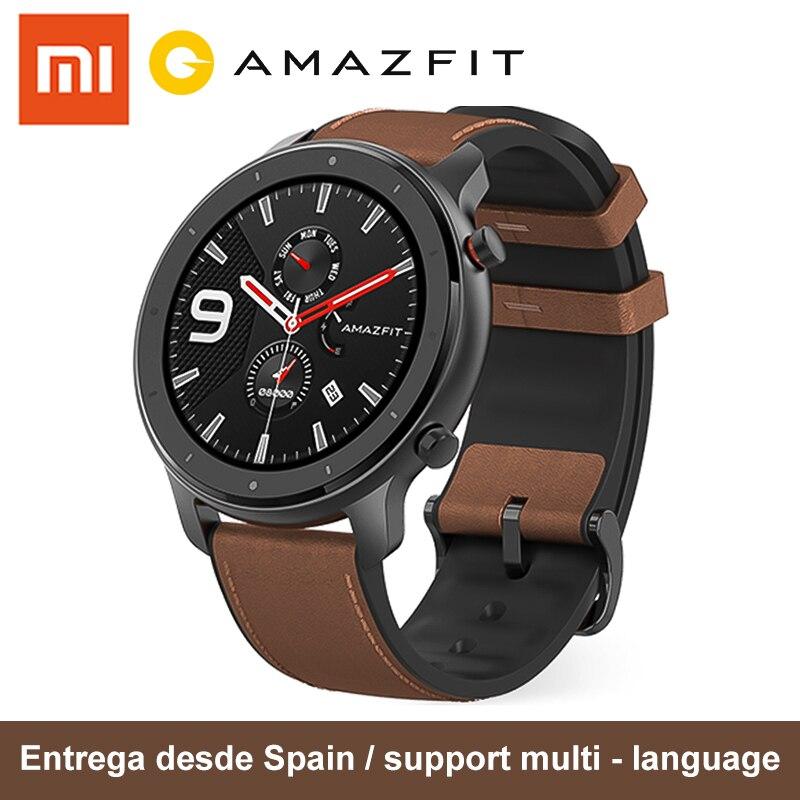[Plaza] Amazfit GTR 47m et 42mm Amazfit montre intelligente avec écran AMOLED 24 jours d'autonomie 5ATM étanche 12 mode sport