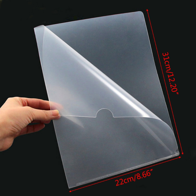 C5AB 20 Pcs Clear Presentation Files Paper Cover Transparent Binding Report A4 Folder