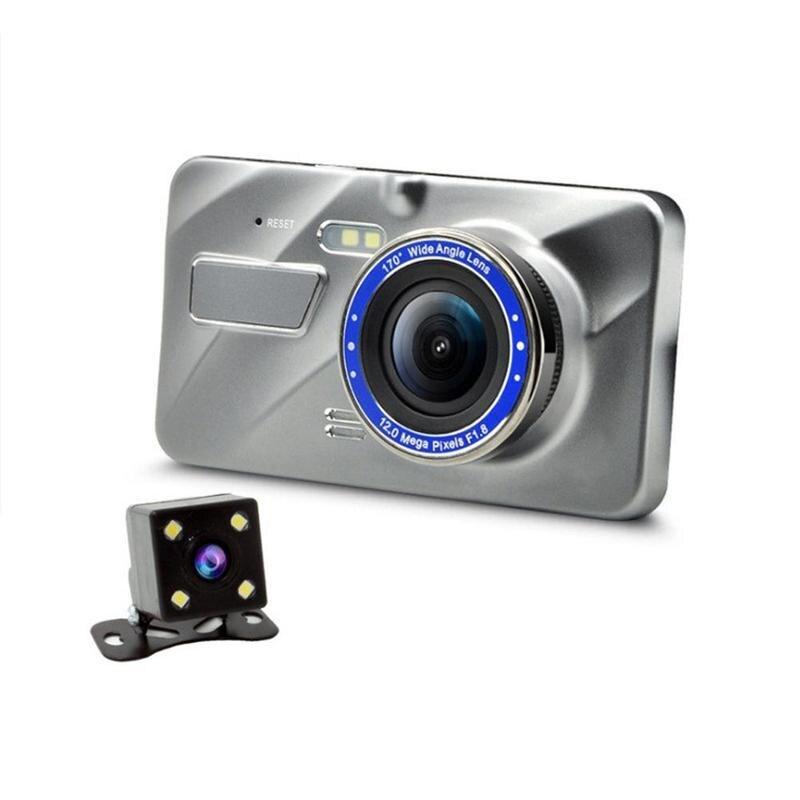 Driving Recorder Car Camera 4 Inch Full HD Night Vision 1080P Drive Video Recorder Registrar Automatic Dashboard Dual Recorder