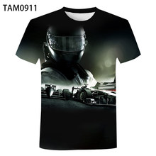 F1 racing 2021 summer new 3D printing men's and women's sports personalized loose short sleeve children's simple casual T-shirt