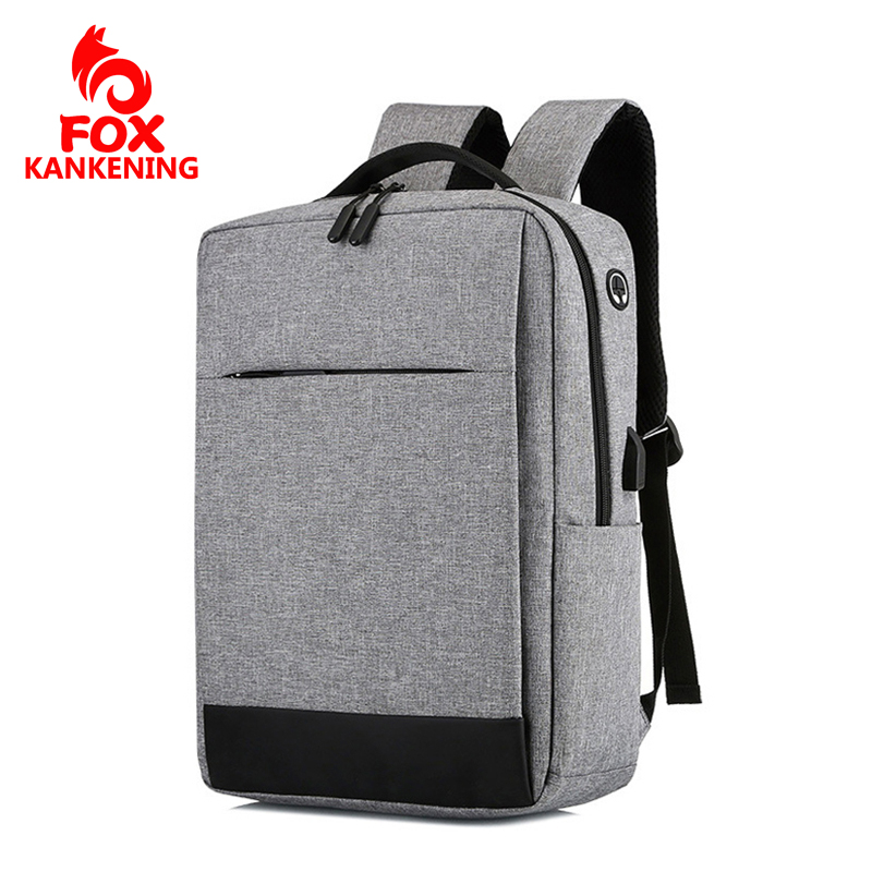 FOX KANKENING Backpack Waterproof Multifunctional USB Computer Backpack Student Bag Unisex Mochila Women for Backpack 15 Inches image