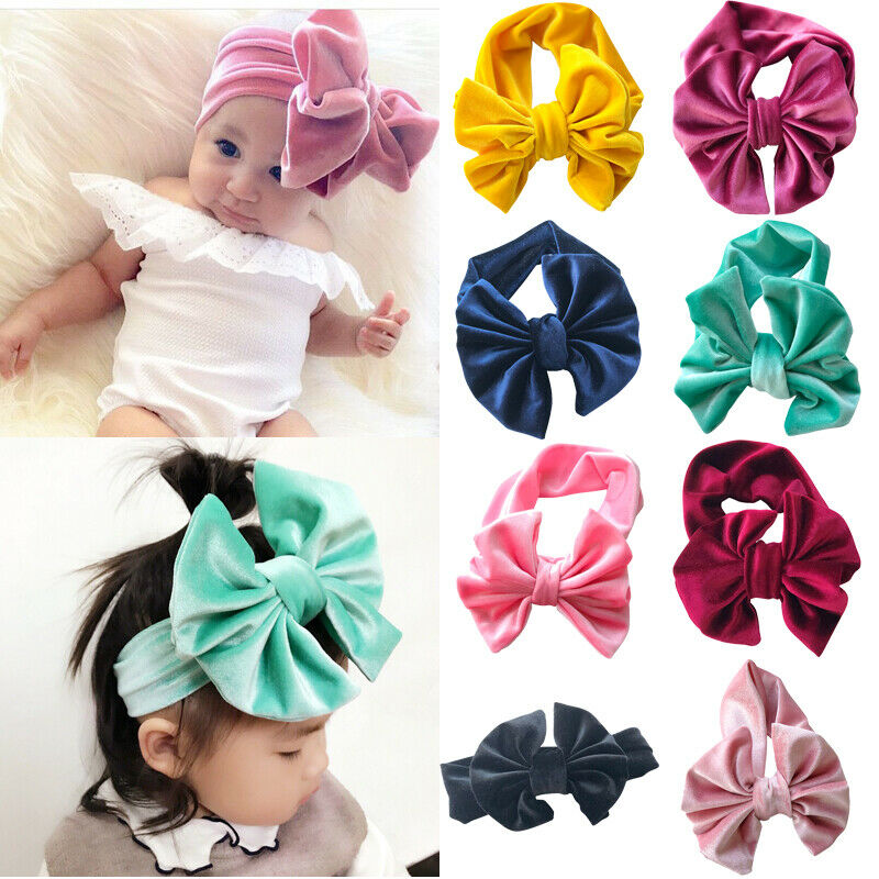 0-4Years Kids Toddler Baby Girls Knot-Bow Headband Headwear For Infant