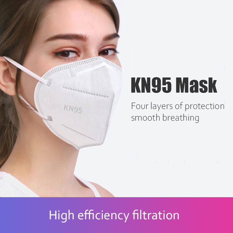 10 Pieces KN95 Mask Reusable Mouth Face Masks Anti Dust PM2.5 Anti-fog Protective Safety 4 Layer Ear Loop Mask