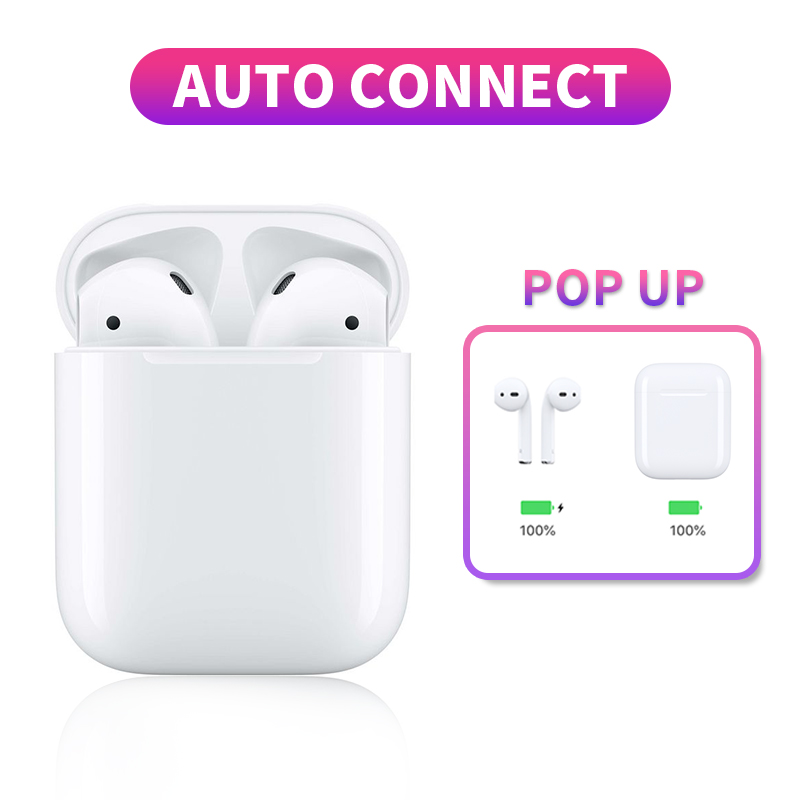 True Bluetooth Earphone V5.0 Wireless Touch Sport Earbuds Auto pop-up Window With Dual Mic Handsfree Headset For iPhone Android