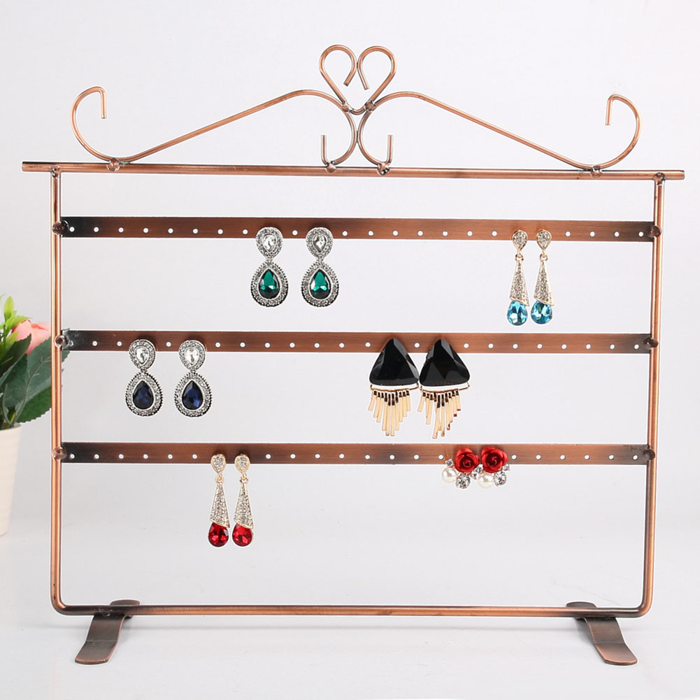 3-Tier 72 Holes Folding Earring Holder Organizer Screen Jewelry Display Jewelry Storage Rack Ear Ring Display Holder Earrings
