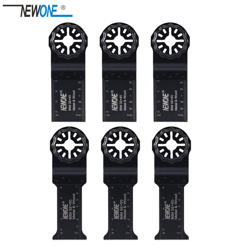 NEWONE Starlock 32*40mm/32*50 Lengthen BIM Bi-metal Saw Blades Fit Power Oscillating Tools For Wood Metal Cut Remove Nails