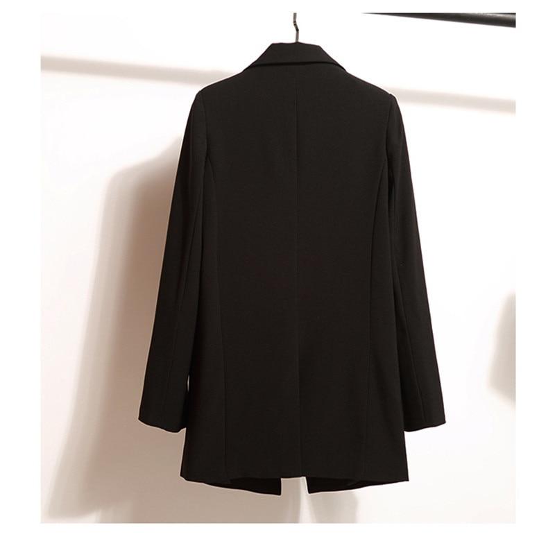 Women Blazer Spring Autumn Women Blazers And Jackets Long Sleeve Fashion Blazer Femme Black Blazers Work Wear CJ013