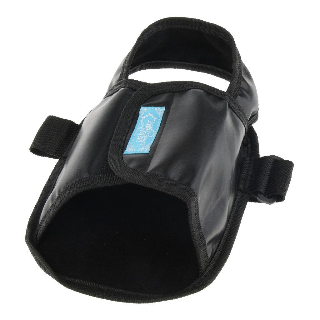 Elderly Patient Handicap Wheelchair Constraint Shoes Foot Rest Strap Belt Pedal Wrap Black