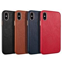 IPhone Xs Max XR 11Pro max 7 8 Plus ckhb 13v 메탈 버튼 고급 가죽 케이스 용 양가죽 일체형 뒷면 커버 케이스