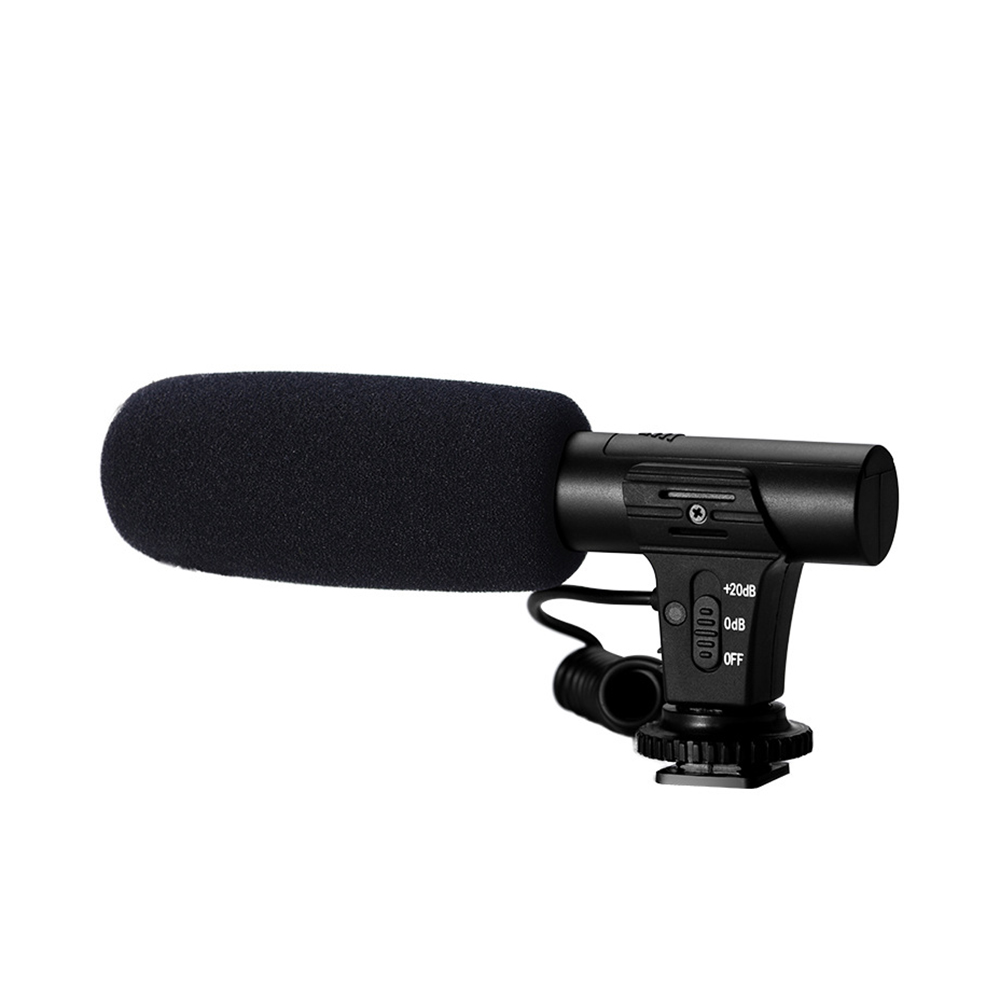 3.5mm Audio Plug Hypercardioid Recording Microphone For Camera Mic DSLR Video HD Cell Phone Computer Camcorder VLOG Microphone