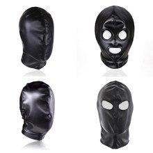 BDSM Slave Bondage Latex Mask Puppy Hood Fetish Gay Toys Leather Restraints Head