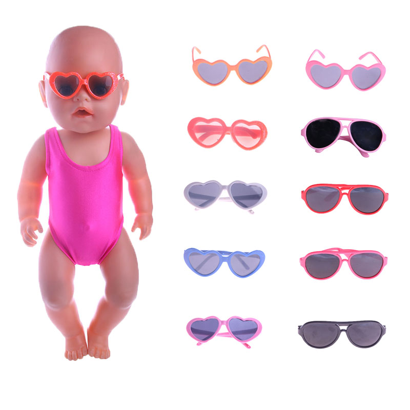 Doll Accessories Cool Glasses Pet Sunglasses For 18 Inch Dolls And 43cm Reborn Dolls DIY American Girls Gift Toys Photo Props