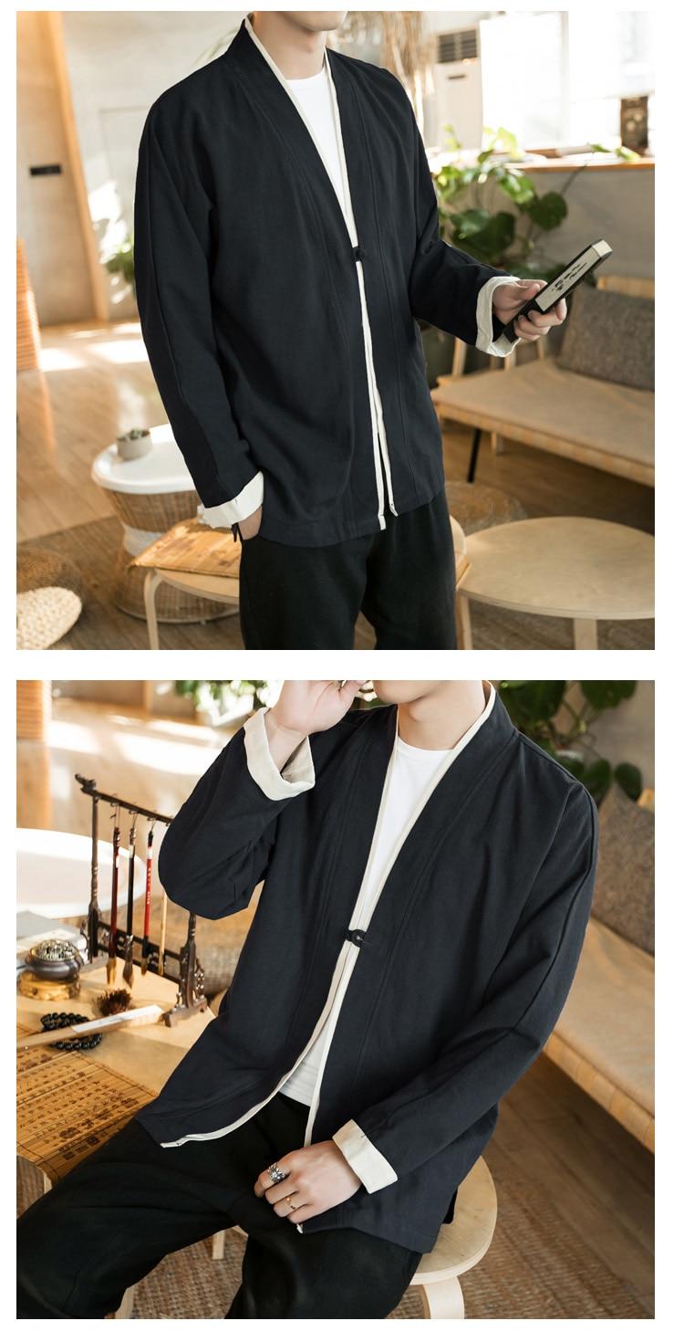 Sinicism Store Men Patchwork Shirt Streetwear Short Sleeve 19 Summer Harajuku Vintage Kimono Shirts Black Fashion Open Stitch 13