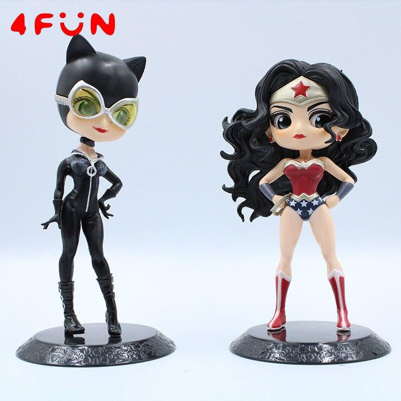 15cm Action Figure Catwoman Wonder Woman PVC Anime Figure Collectible Model Toy  4Fun