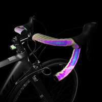 1 set Bicycle Handlebar tape Reflective Light Weight road Bike Tape Wrap Pu Leather MTB Anti slip Bicycle Accessories for bike