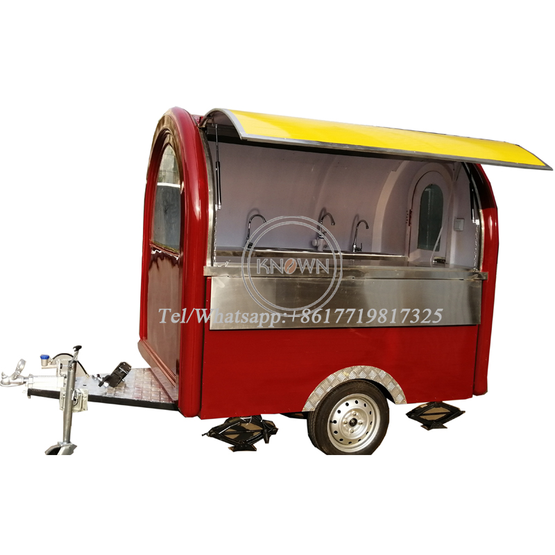 Two Big Wheels Mobile Food Trailer Mobile Food Cart Truck For Sale With Free Shipping By Sea
