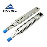 HVPAL HVPAL Drawer Slides Runners With Lock Ball Bearing Three Fold Full Extension Locking Heavy Duty Slide Rail