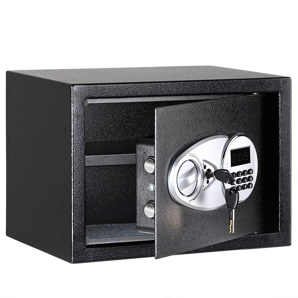 Security Luxury Digital Safe Box Depository Drop Cash Jewelry Home Hotel Lock Keypad Black Safes Security Box 35X25X25cm
