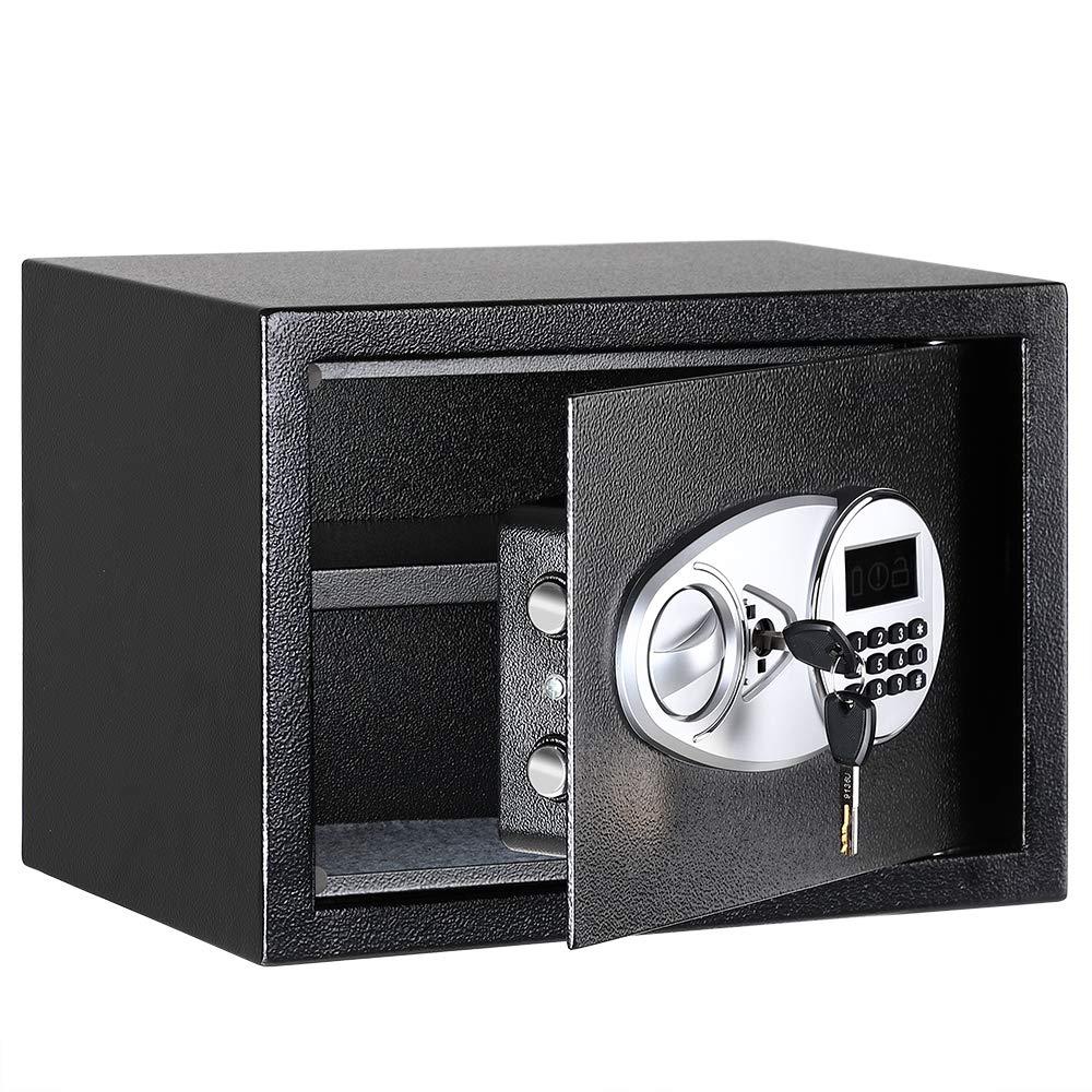 Security Luxury Digital Safe Box Depository Drop Cash Jewelry Home Hotel Lock Keypad Black Safes Security Box 35X25X25cm
