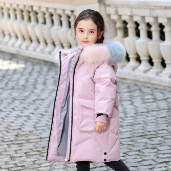 купить OLEKID 2020 Winter Down Jacket For Girls Hooded Real Raccoon Fur Girls Winter Coat 5-14 Years Kids Teenage Girl Outerwear Parka в интернет-магазине