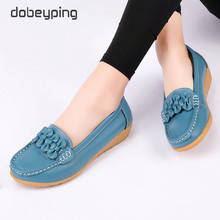 Genuine Leather Spring Autumn Loafers Women Slip On Female Shoes Moccasins Soft Ladies Footwear Butterfly Bow Womens Flats Shoe