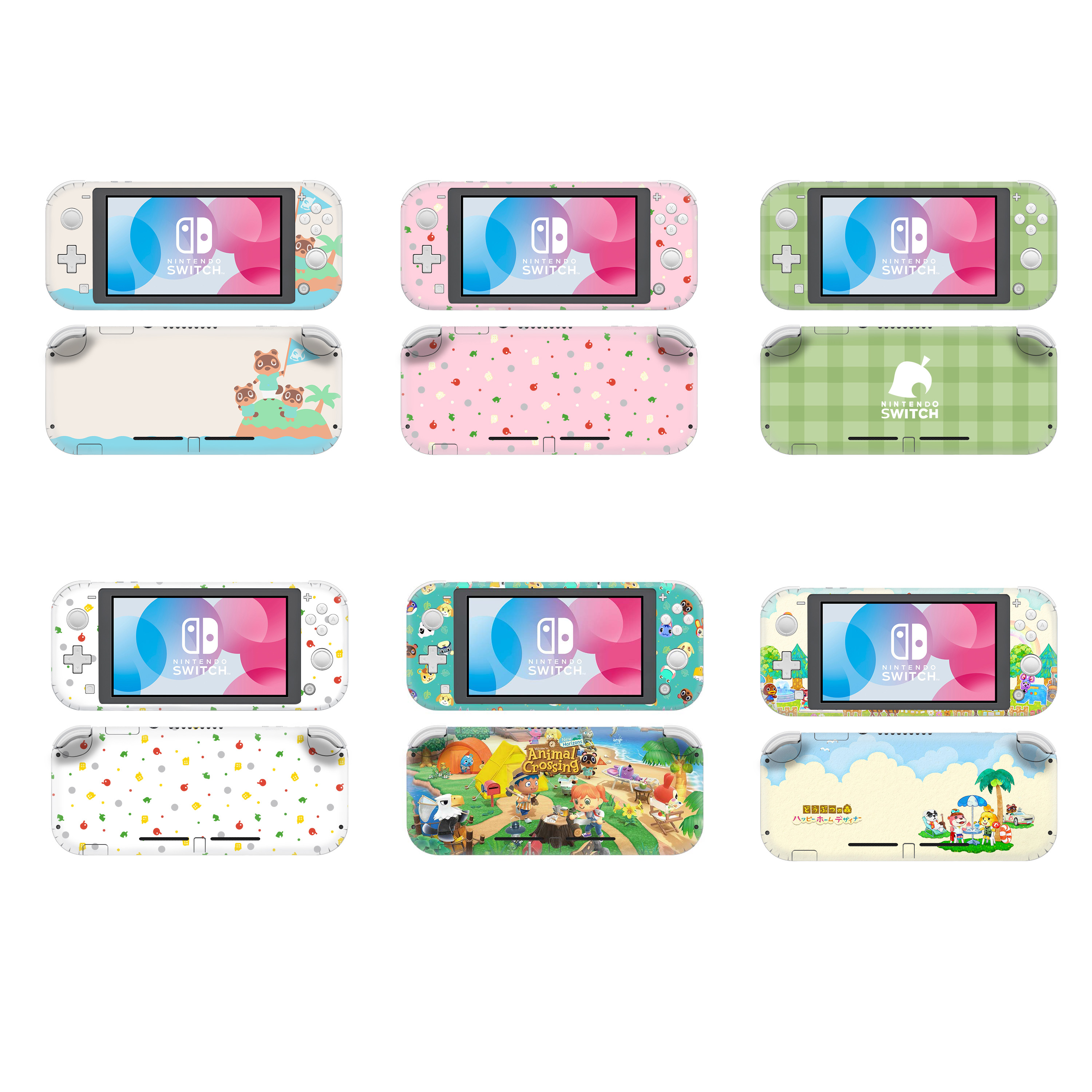 Animal Crossing Protective Screen Skin Protector Stickers For Nintendo Switch Lite NS Mini Console Nintend Decoration Decal Case