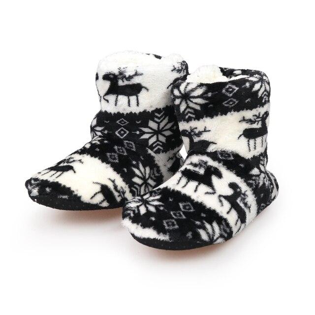 Winter Fur Slippers Women Warm House Slippers Plush Flip Flops Christmas Cotton Indoor Home Shoes Floor Shoes Claquette Fourrure 1