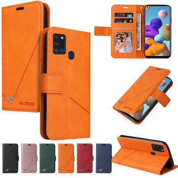 Shockproof Flip Wallet Case For Samsung Galaxy A21S A21 S PU Leather Card Magnet Luxury Cover for Galaxy A41 A31 A11 Fundas