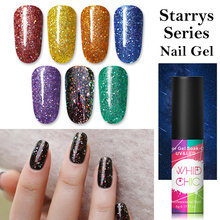 WHID Chic Uv Gel Cat Kuku Holographici Bling Payet Glitter Warna-warni Rendam Off Bahasa Polandia Paku Seni Sinar UV Gel Polandia 5ml(China)