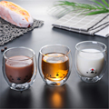 Verhindern Verbrühen Nette Cartoon Bär Förmigen Doppel Wand Glas Becher Schöne Doppel Glas Milch Kaffee Tee Tasse Runde Mund Drink geschenk