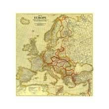 Карта Европы в 1920 году 60x60 см мира Конференции Париже виниловый