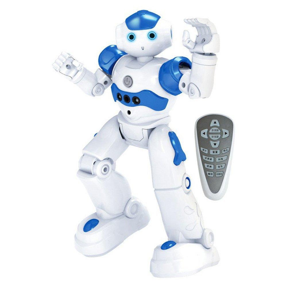 Интеллектуальный робот-головоломка с дистанционным управлением для раннего обучения, детская игрушка для мальчиков, индукционный жест с USB-зарядкой 6