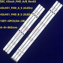 LED şerit 6916L 0962A 6916L 0962B LG 43LH5100 43LH5700 43LF510V LF51_FHD_A LF51_FHD_B LGE_WICOP_FHD 43INCH_REV00_A/B_150511