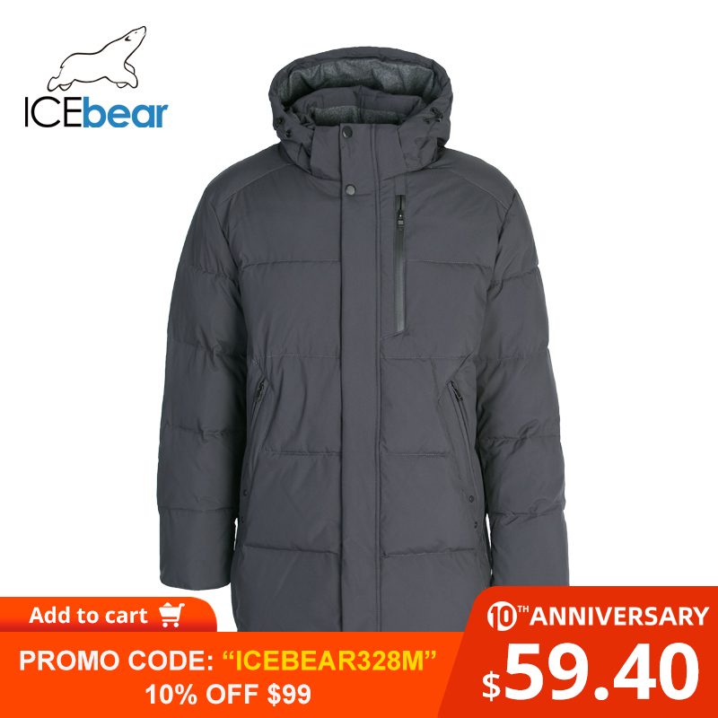 ICEbear 2019 New Winter Men's Clothing High Quality Men's Hooded Coat Brand Jacket MWD19937I